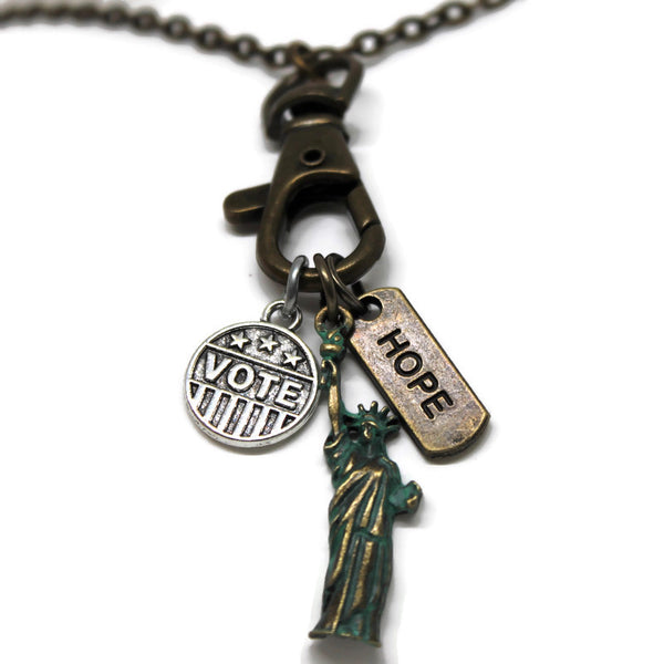 Lady Liberty Charm- Bracelet, Necklace or Charm Only