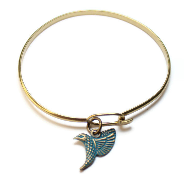 Hummingbird, Charm, Bracelet, or Necklace