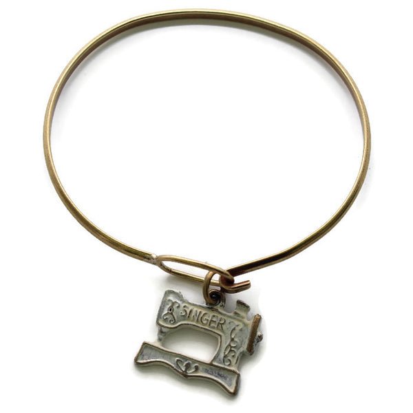 Sewing Machine Charm Bracelet or Necklace