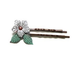 Perfect Bloom Hair Pins - Pair of 2 pins in 4 Color Choices