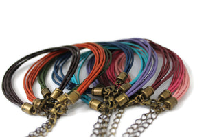 Leather Multi Strand Bracelet