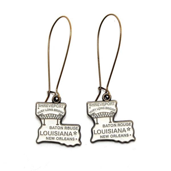 Louisiana State Earring