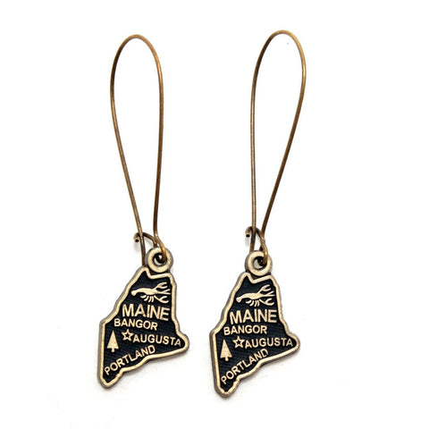 Maine State Earring