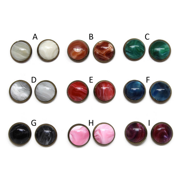 Marbles Dome Earring Collection