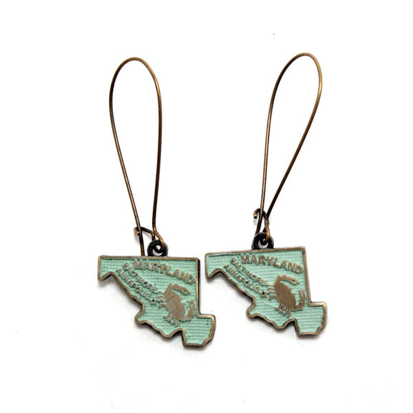 Maryland State Earring