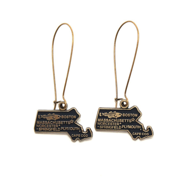 Massachusetts State Earring