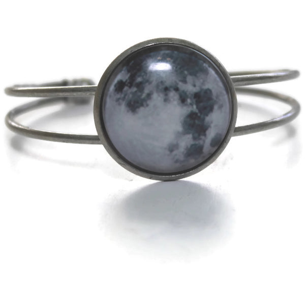 Moon Jewelry - bracelet in silver tone - full moon