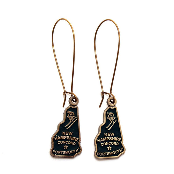 New Hampshire State Earring