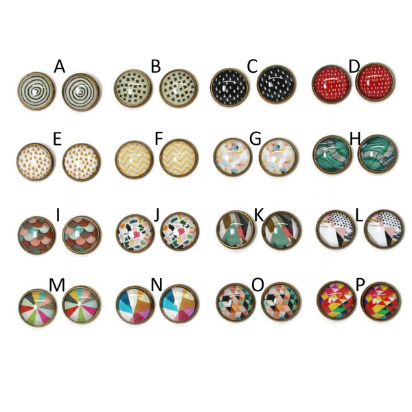 Patterns Dome Earring Collection