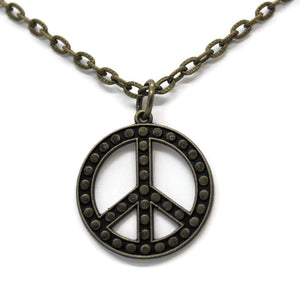 Peace is Spot On Necklace