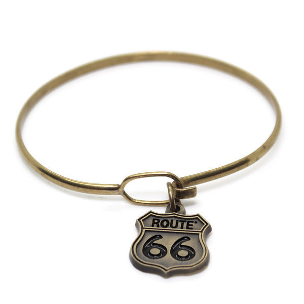 Route 66, Charm Only, Bracelet or Necklace