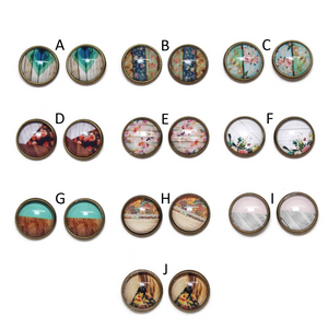 Shabby Chic Dome Earring Collection