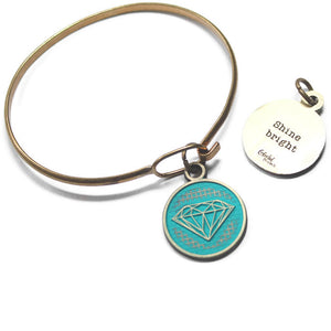 Shine Bright Token Bracelet, Necklace, or Charm Only