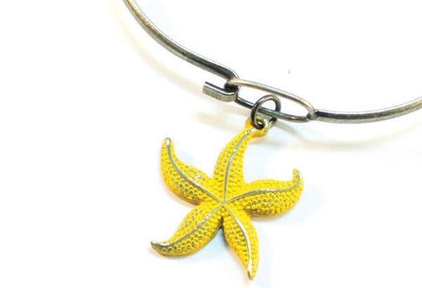 Silver Starfish Charm Bracelet or Necklace