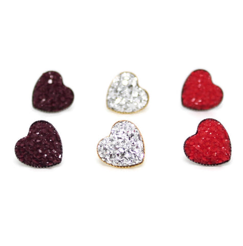 Sweetheart Stud Earrings