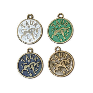 Zodiac Taurus - Charm Bracelet, Necklace or Charm Only