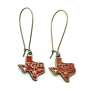 Texas State Love Earring