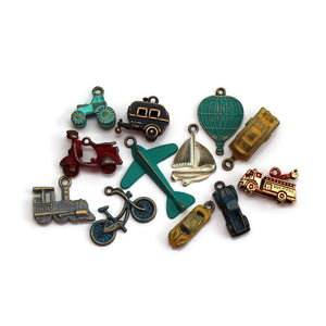 Transportation Charm Collection: Bracelet, Necklace, Earrings or Charm Only