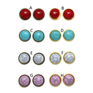 Turquoise Dome Earring Collection