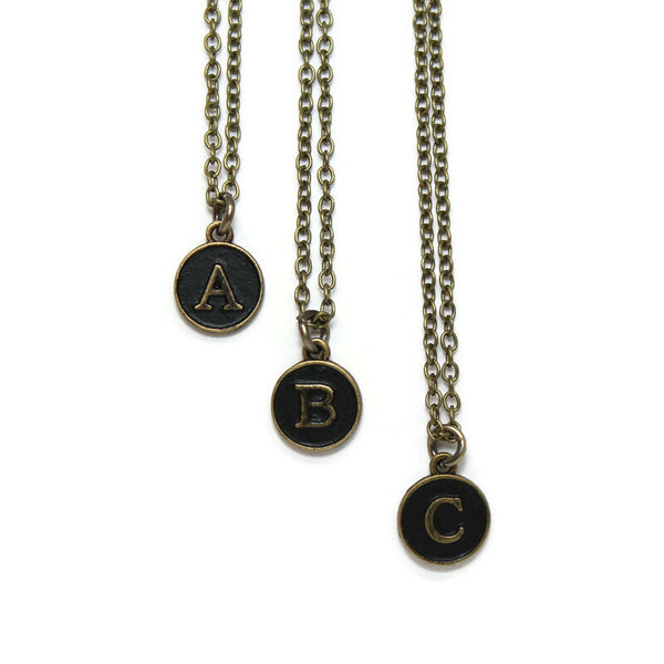 Typewriter Key Initial Charm, Necklace, Bracelet, Charm Only