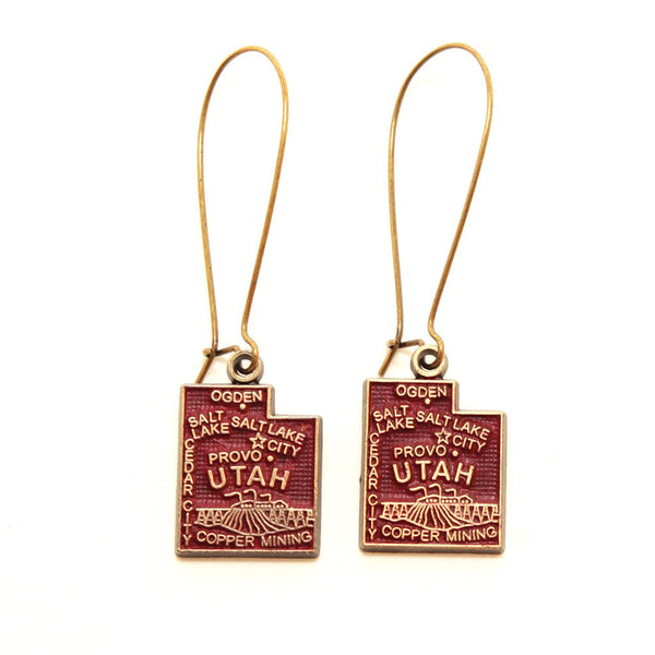 Utah State Love Earring