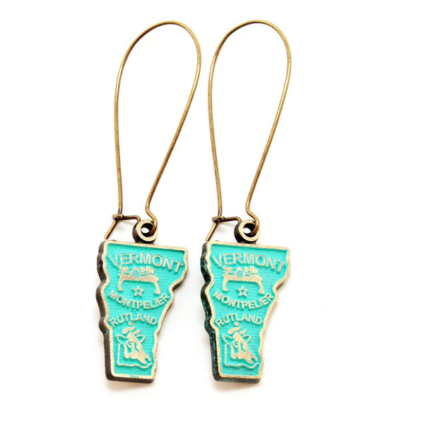 Vermont State Love Earring