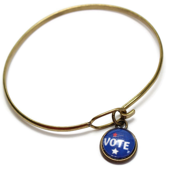 VOTE Bracelet, Necklace, Earrings and Charm Only