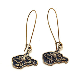 West Virginia State Love Earring