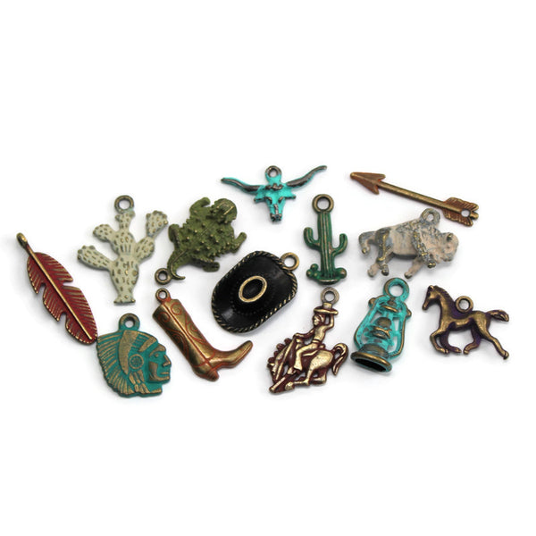 Western Charm Collection: Bracelet, Necklace, Earrings or Charm Only