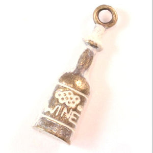 Wine Bottle Charm Bracelet or Necklace