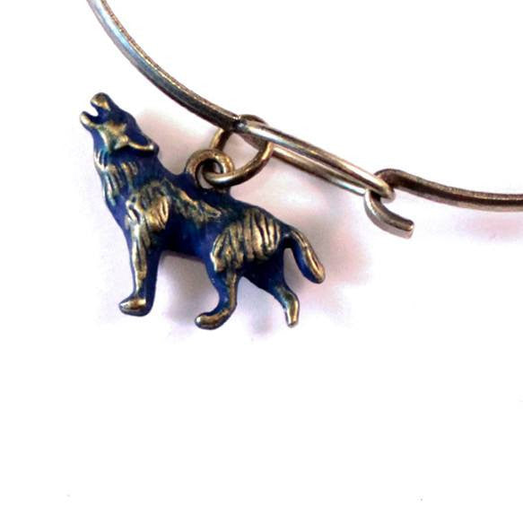Wolf Charm Bracelet or Necklace