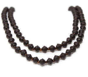 Wood & Glass Bead Strand
