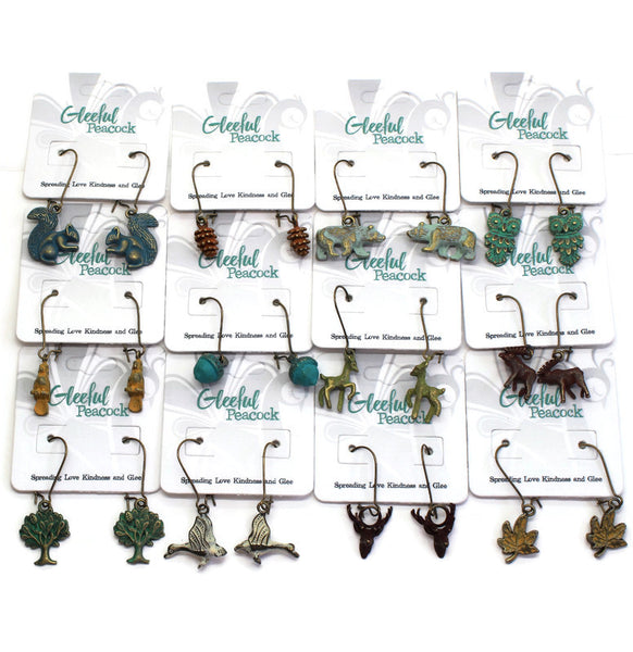Woodland Charm Collection: Bracelet, Necklace, Earrings or Charm Only