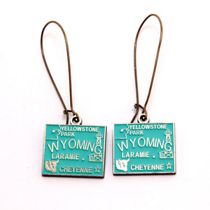 Wyoming  State Love Earring