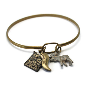 Yellowstone National Park 2 Charm Set with Moose