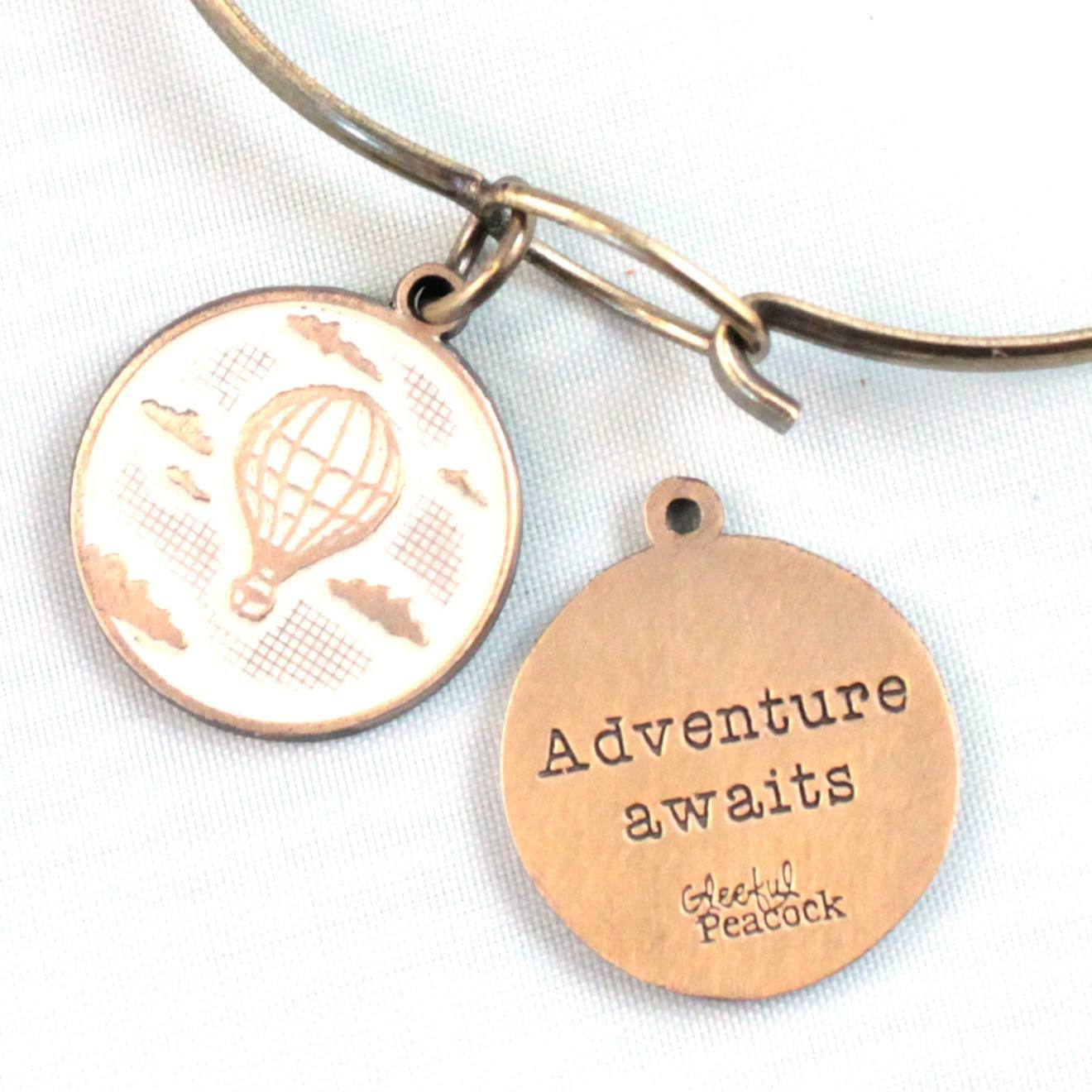 Adventure Token Charm Bracelet, Necklace, or Charm Only