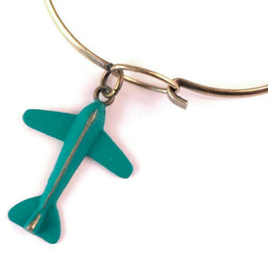 Airplane Charm Bracelet, Necklace, or Charm Only