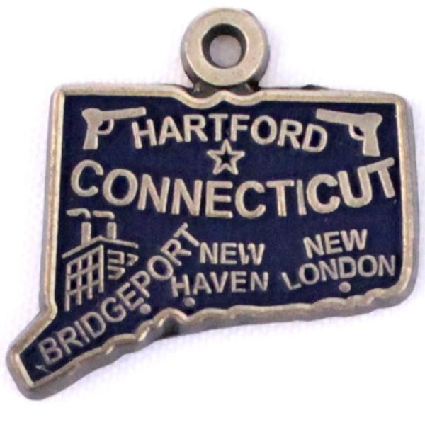 Connecticut State Charm Bracelet, Necklace, or Charm Only