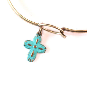 Cross Charm Bracelet, Necklace, or Charm Only