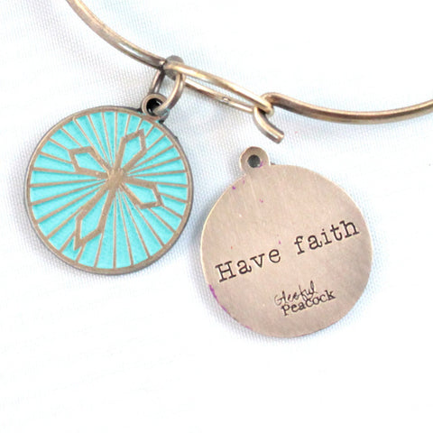 Faith Token Charm Bracelet, Necklace, or Charm Only