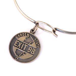 Exit 98 State Charm Bracelet, Necklace, or Charm Only