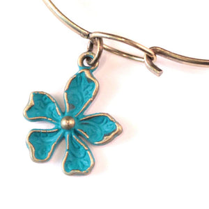 Flower Charm Bracelet, Necklace, or Charm Only