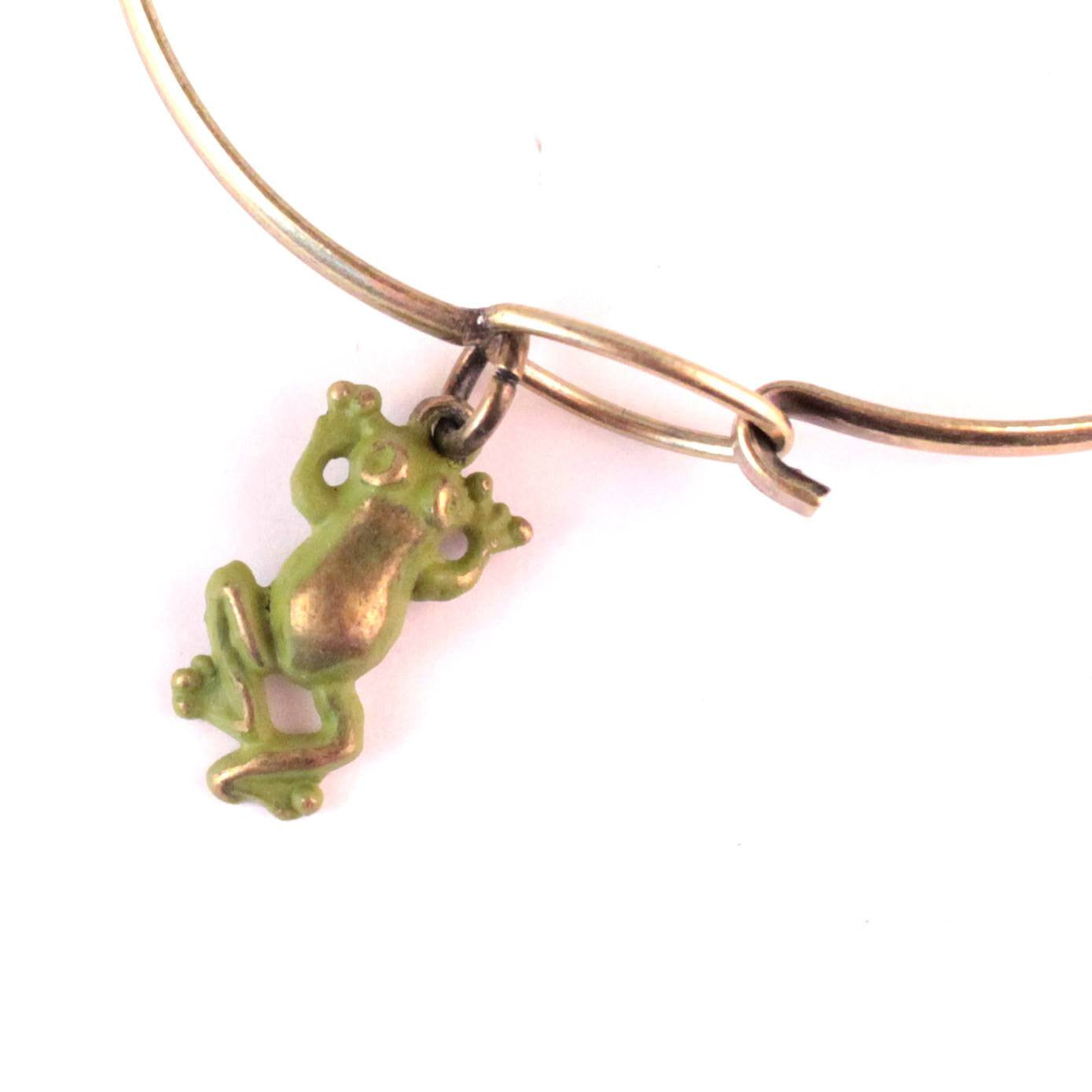 Frog Charm Bracelet, Necklace, or Charm Only