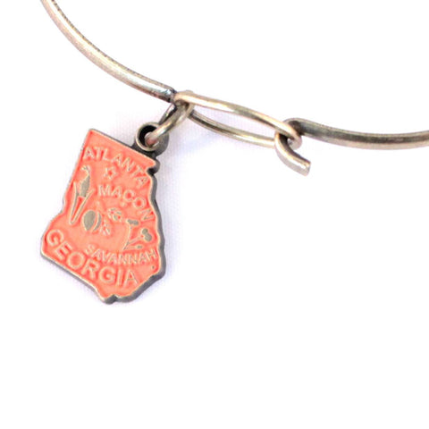 Georgia State Charm Bracelet, Necklace, or Charm Only
