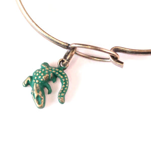 Alligator Charm Bracelet, Necklace, or Charm Only