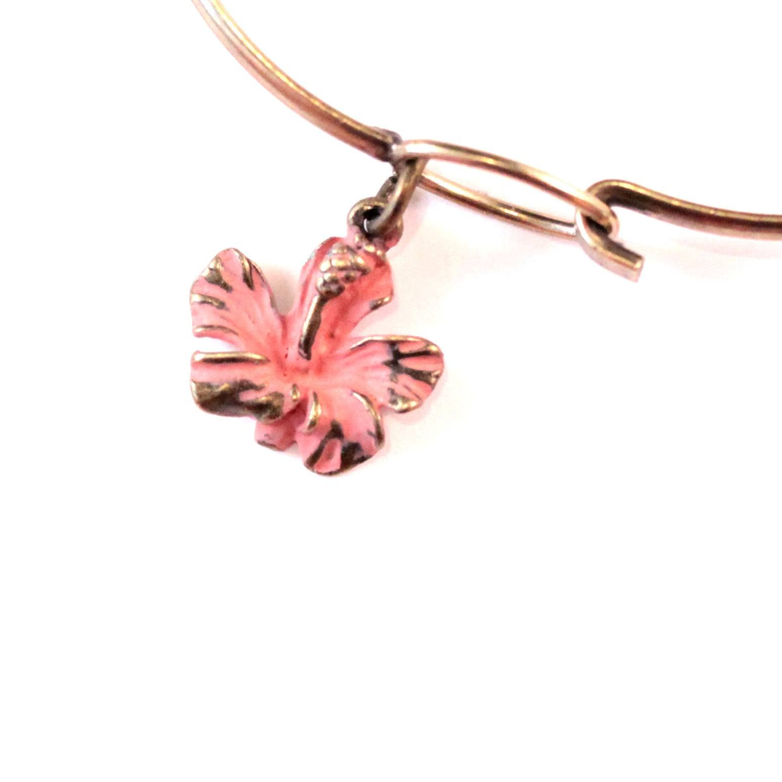 Hibiscus Charm Bracelet or Necklace
