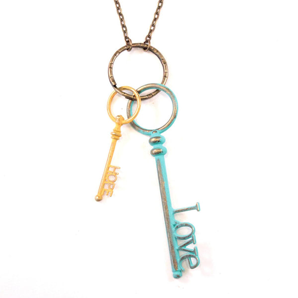 Hope & Love Keys Necklace