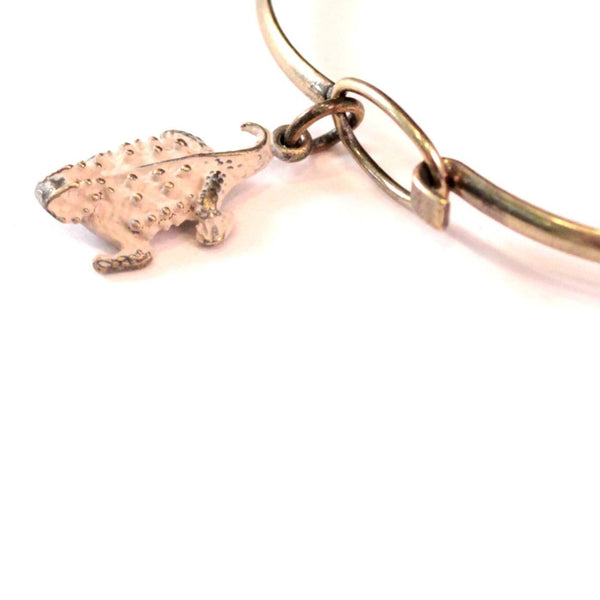 Horned Toad Charm Bracelet, Necklace, or Charm Only