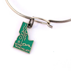 Idaho State Charm Bracelet, Necklace, or Charm Only