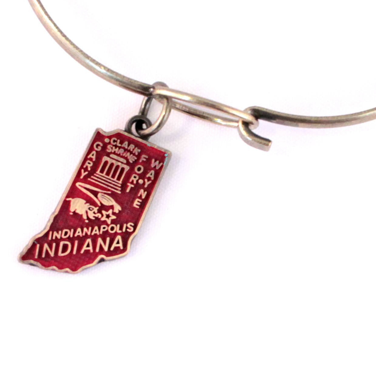 Indiana State Charm Bracelet, Necklace, or Charm Only